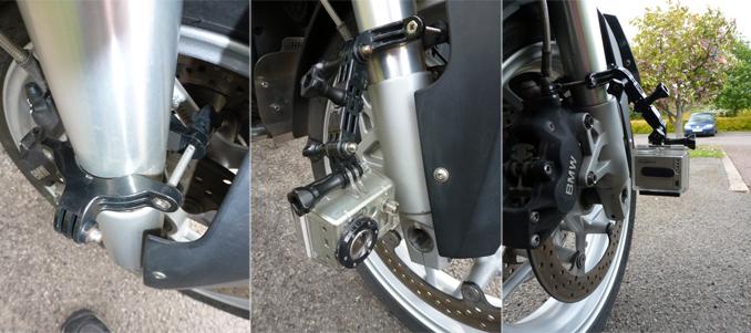 GoPro GRBM30, montage sur moto