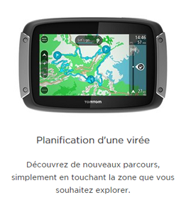 Planification d'itinéraire TomTom Rider 400