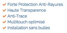 Caractéristiques UpScreen Scratch Shield