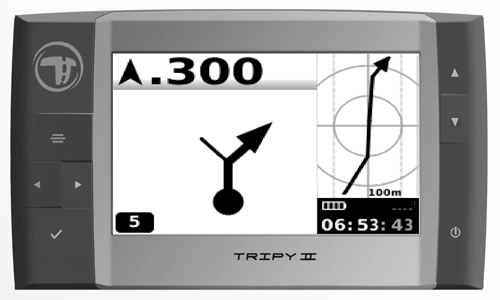 Ecran de Navigation avec la trace proche du Tripy II